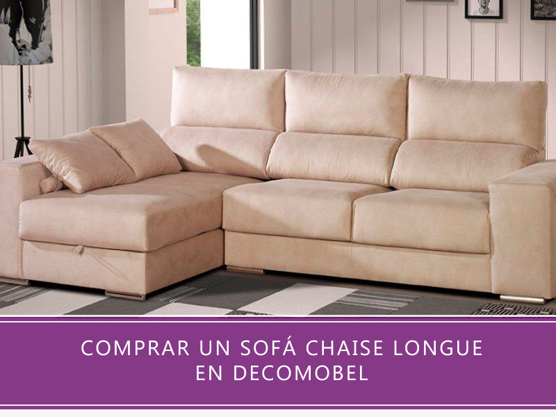 comprar un sofá chaise longue en Decomobel
